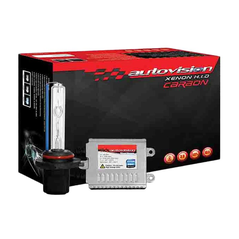 Autovision HID Kit Carbon Fast Bright HB3 Lampu Mobil [6000 K/12-24 V/35 W]