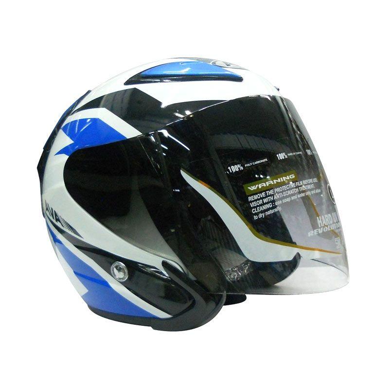 AVA Jenesis Blue Helm Half Face