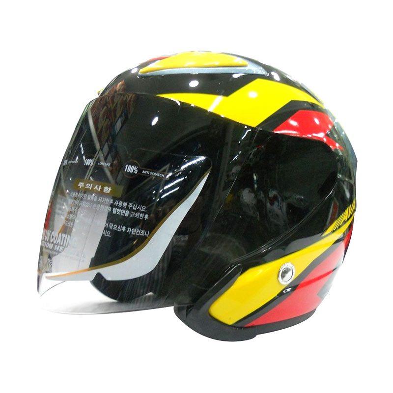 AVA Jenesis Yellow Helm Half Face
