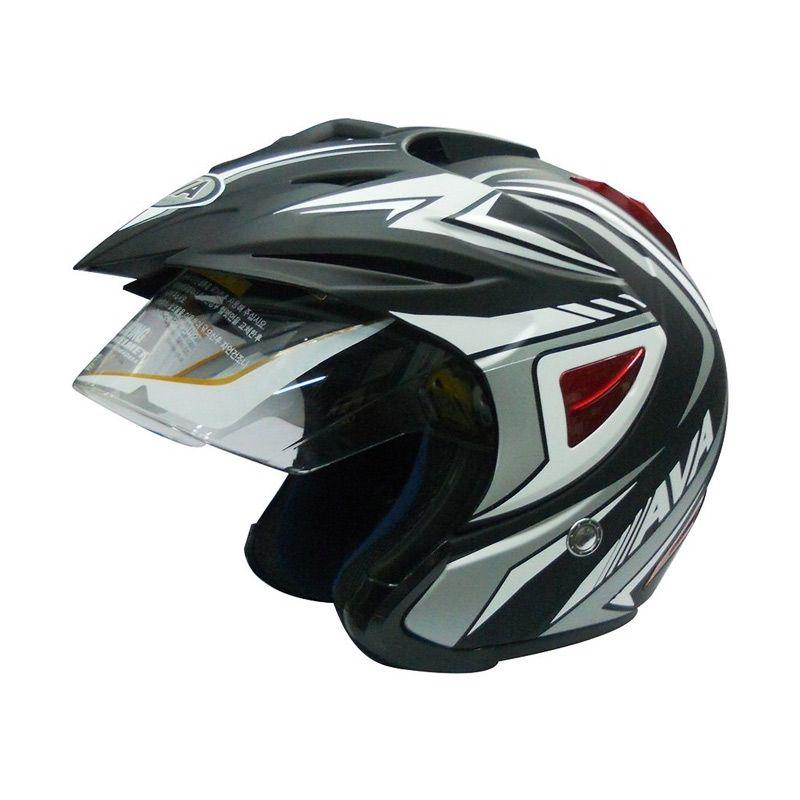 AVA K7 Falcon Black Helm Half Face