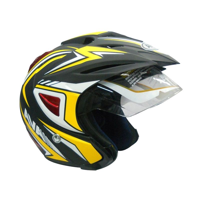 AVA K7 Falcon Yellow Helm Half Face