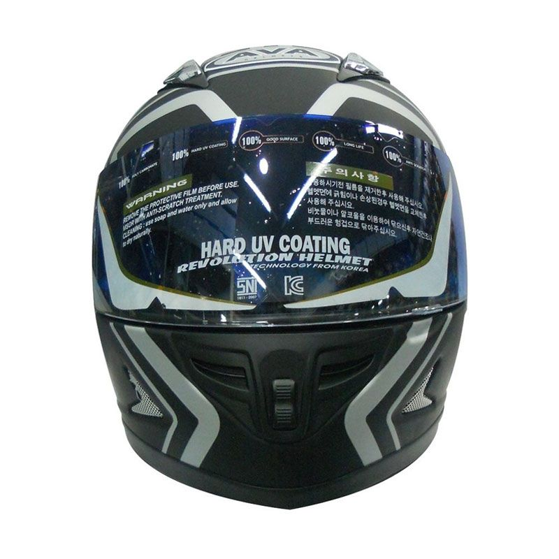 AVA Optima Black Helm Full Face