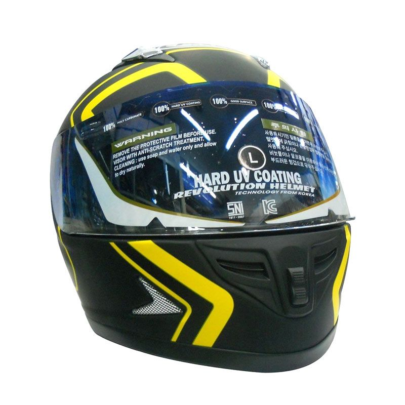 AVA Optima Yellow Helm Full Face