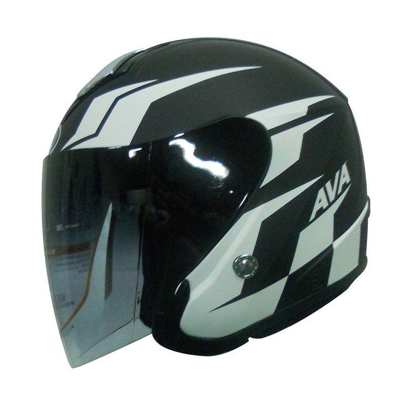 AVA Seri MotoGP Hitam Helm Half Face