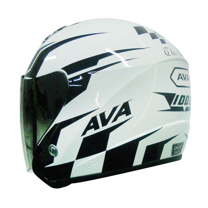 AVA Seri MotoGP Putih Helm Half Face
