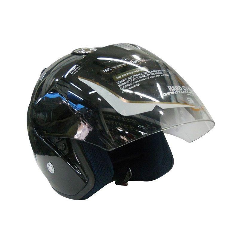 AVA SS7 Centro Hitam Helm Half Face