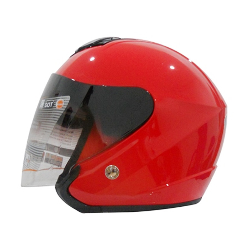 AVA The Win Idol Metalic Solid Helm Half Face - Red