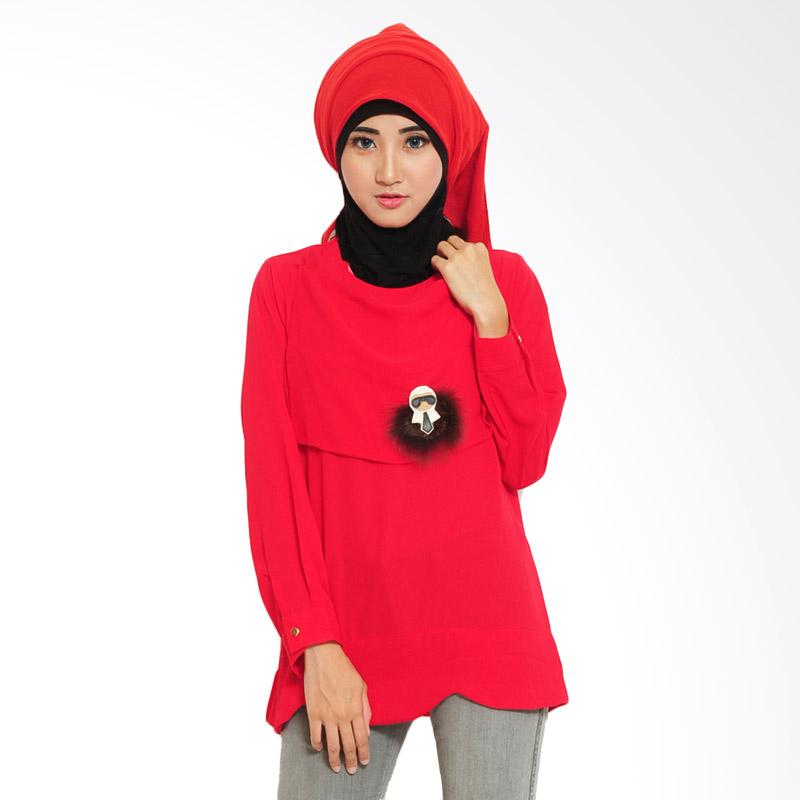 Ayako 4069 Gena Fashion Blouse - Red