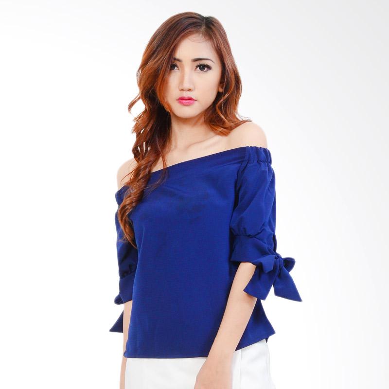 Ayako 4131 Fashion Blouse Daisy - Navy