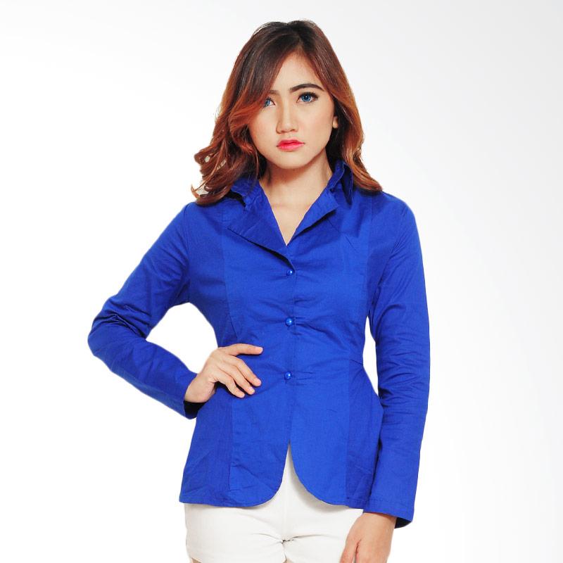 Ayako Fashion Mango Blazer Wanita - Biru