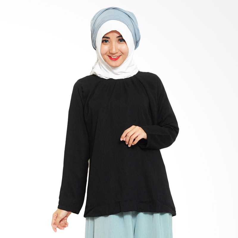 Ayako Fashion Blouse Wins 348 Atasan Wanita - Black