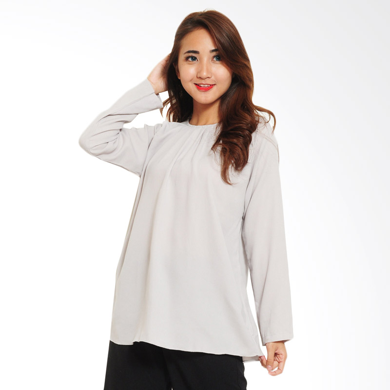 Ayako Fashion Blouse Wins 348 Atasan Wanita - Cream