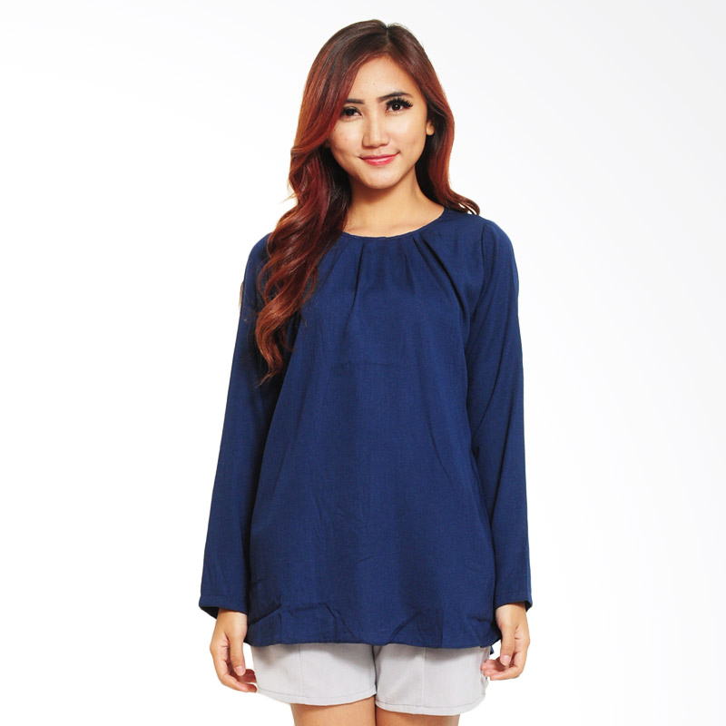 Ayako Fashion Blouse Wins 348 Atasan Wanita - Navy