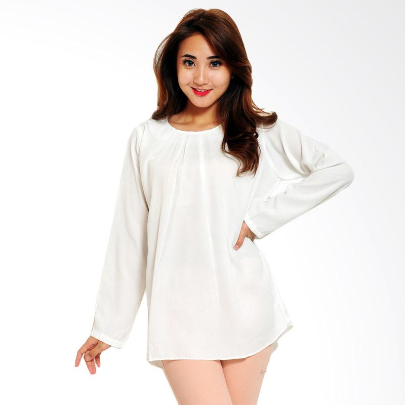 Ayako Fashion Blouse Wins 348 Atasan Wanita - White