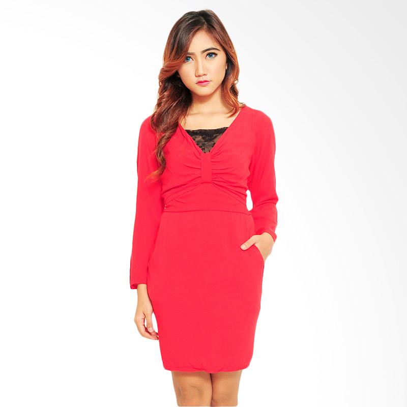 Ayako Fashion Diva Dress - Red