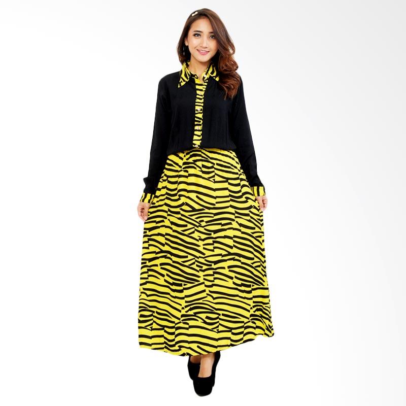 Ayako Fashion Dress Maxi Zebra - (Kuning)