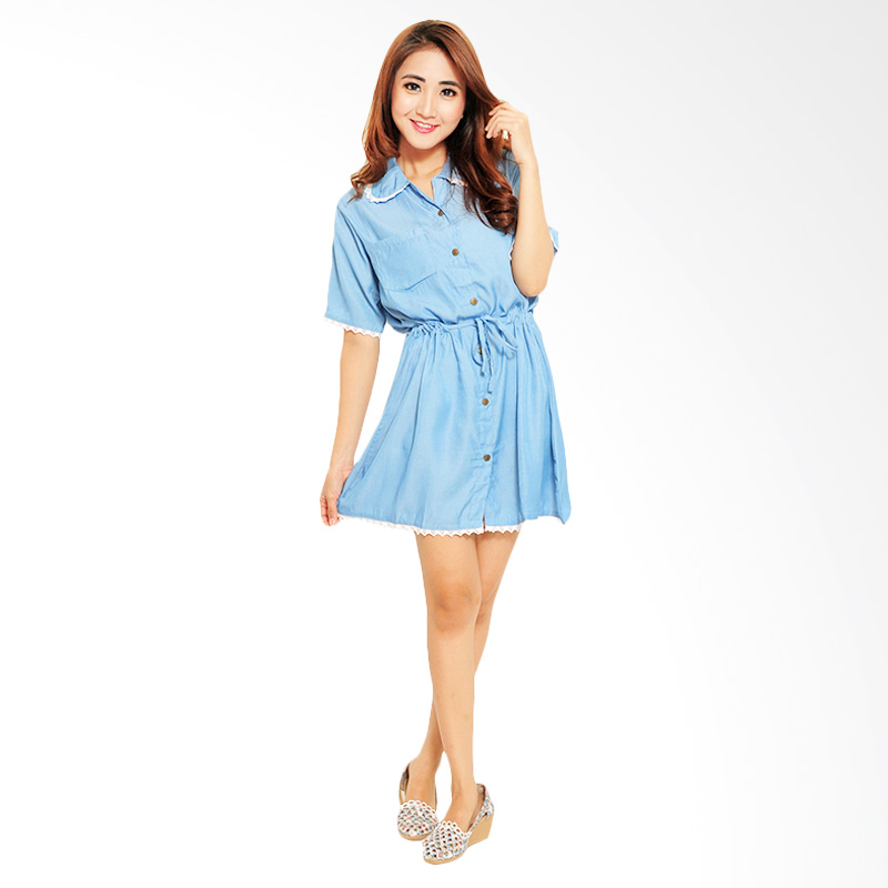 Ayako Fashion Tasya Dress - Blue