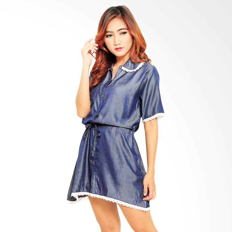 Ayako Fashion Tasya Dress - Navy