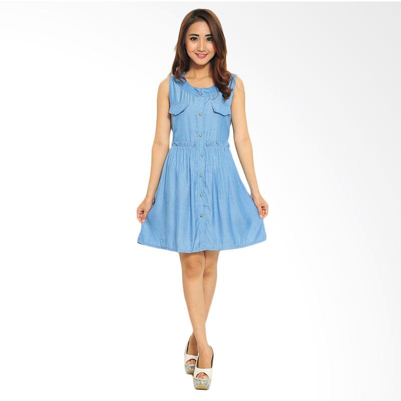 Ayako Fashion Dress Violy - Biru