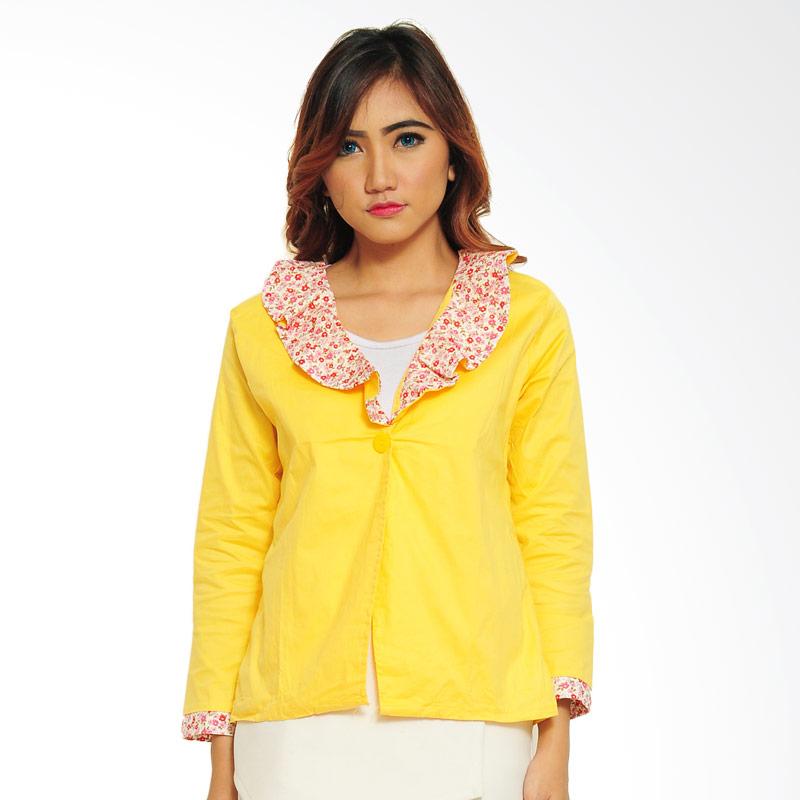 Ayako Fashion Flow Blazer Wanita - Yellow