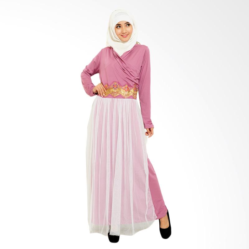 Ayako Fashion Long Sleeve Piony Dress - Purple