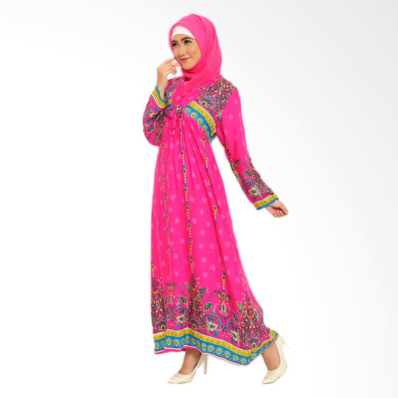 Ayako Fashion Maxi Boston Dress Muslim - Pink