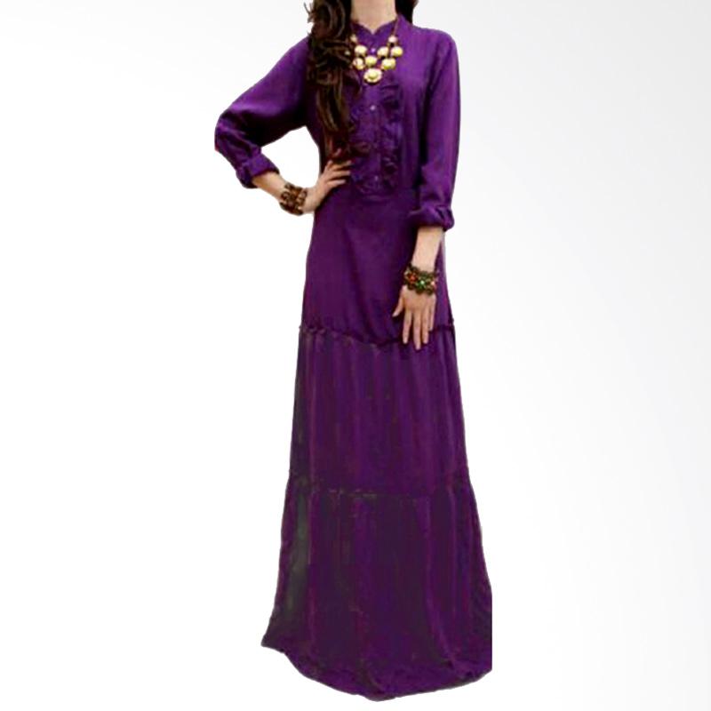 Ayako Fashion Maxi Long Sleeves Fortune  Dress - Ungu