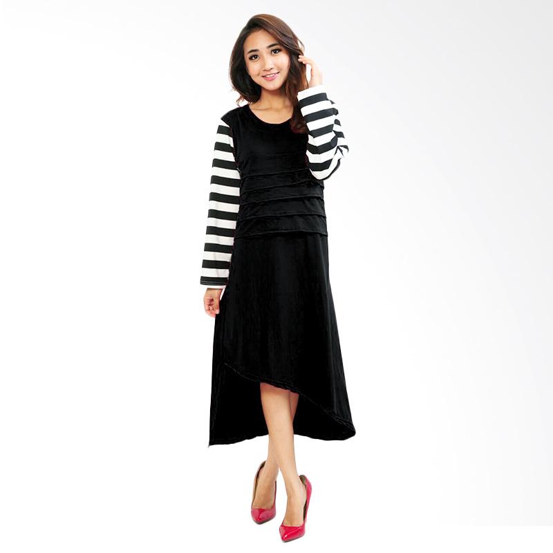 Ayako Fashion Ataya Midi Dress - Black