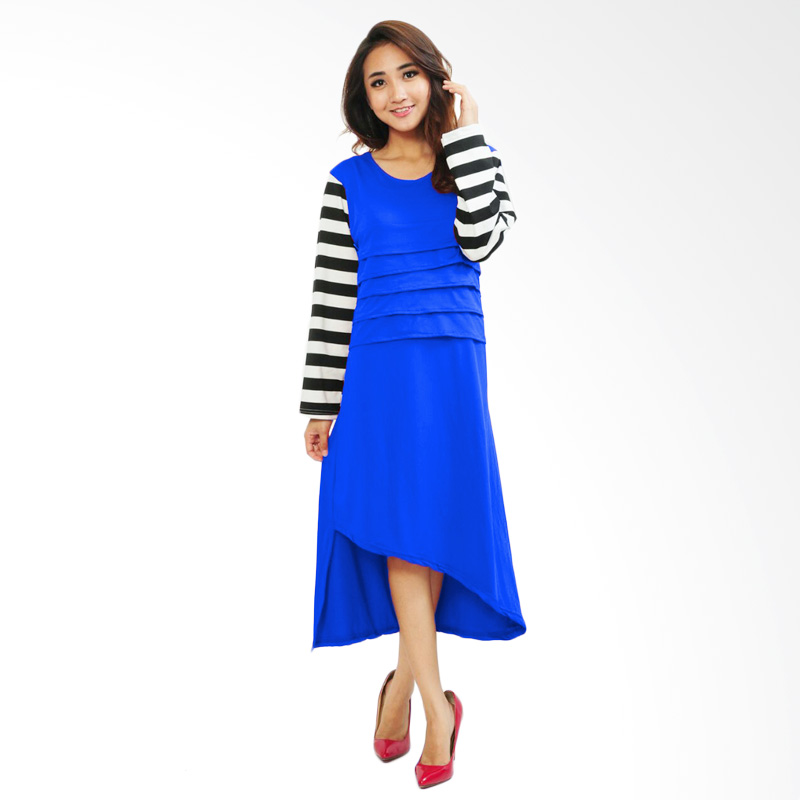 Ayako Fashion Midi Dress Ataya - Biru