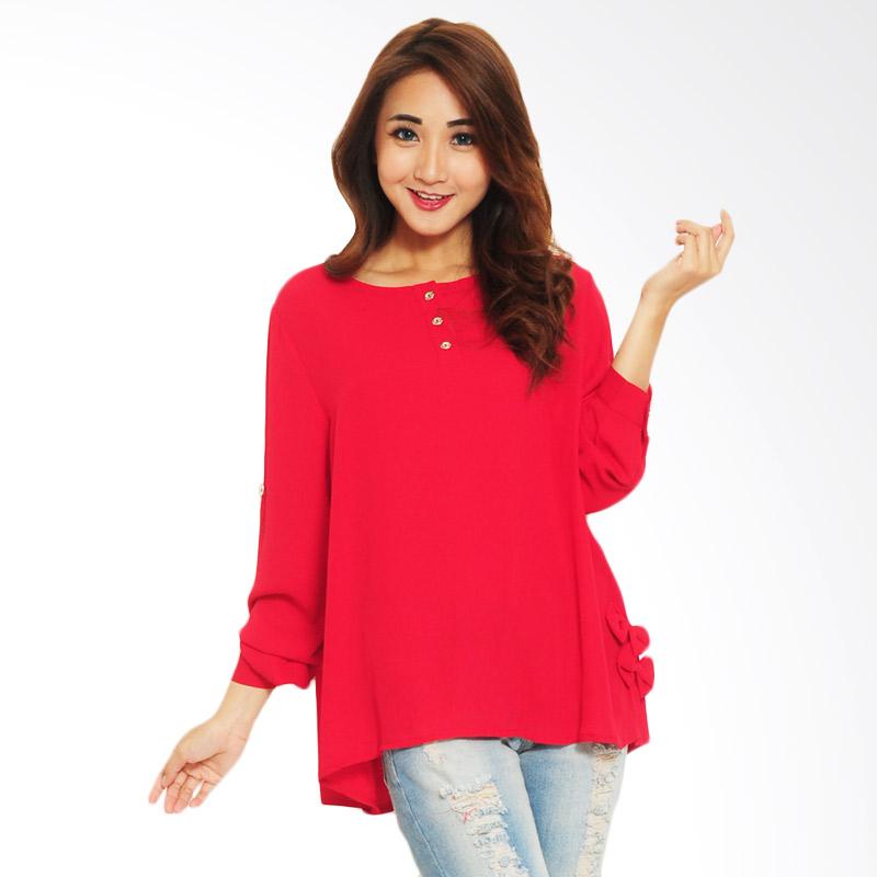 Ayako Fashion Pepy P02 Blouse - Red