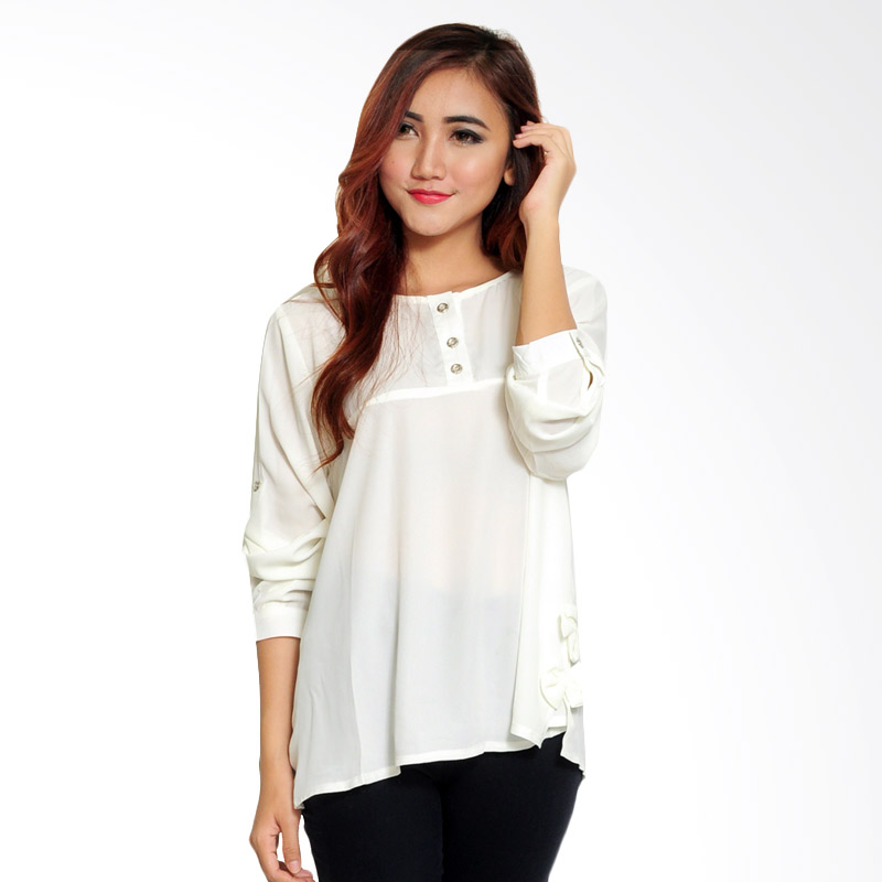 Ayako Fashion Pepy P02 Blouse - White