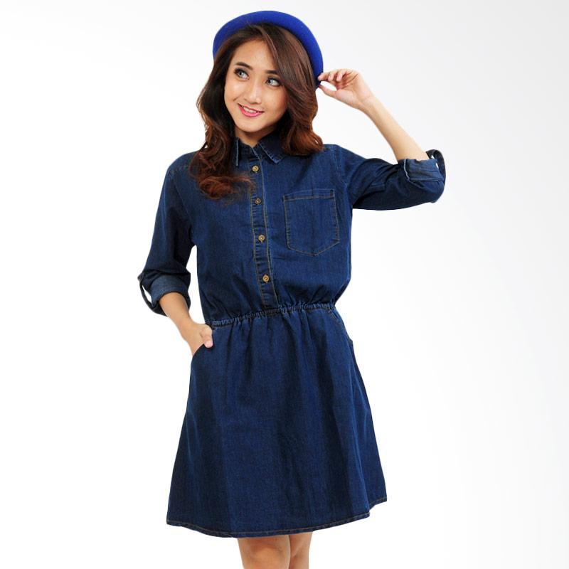 Ayako Fashion Sandra Midi Dress - Navy