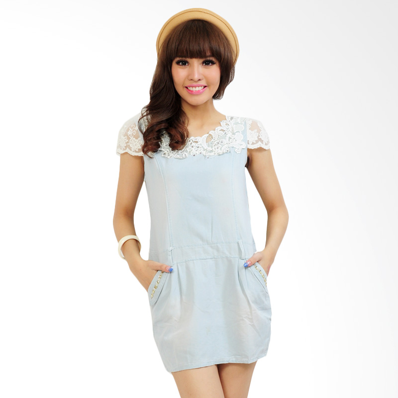 Ayako Fashion Sania Mini Dress - Biru