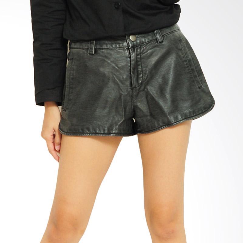 Ayako Fashion Shirt Ivana Celana Wanita - Hitam
