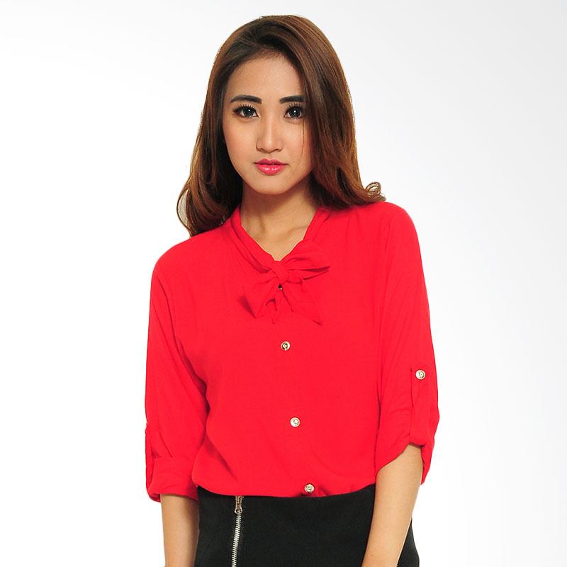 Ayako Fashion Shirt Miu Miu Blouse - Merah