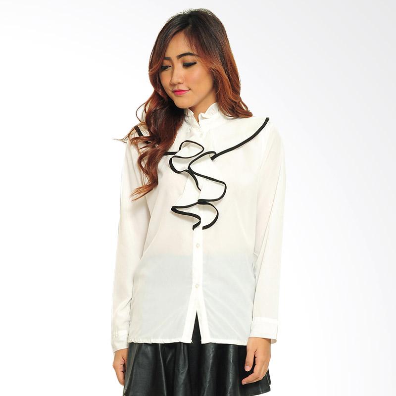 Ayako Fashion Shirt Puply  Atasan Wanita - Putih