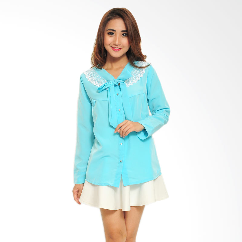 Ayako Fashion Sandra Shirt - Blue