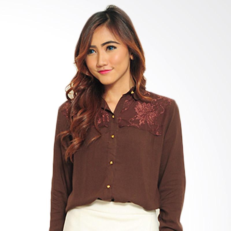Ayako Fashion Shirt Sylvia Blouse - Brown