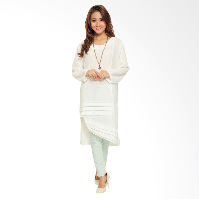 Ayako Fashion Tunic Zio 645 Midi Dress - White