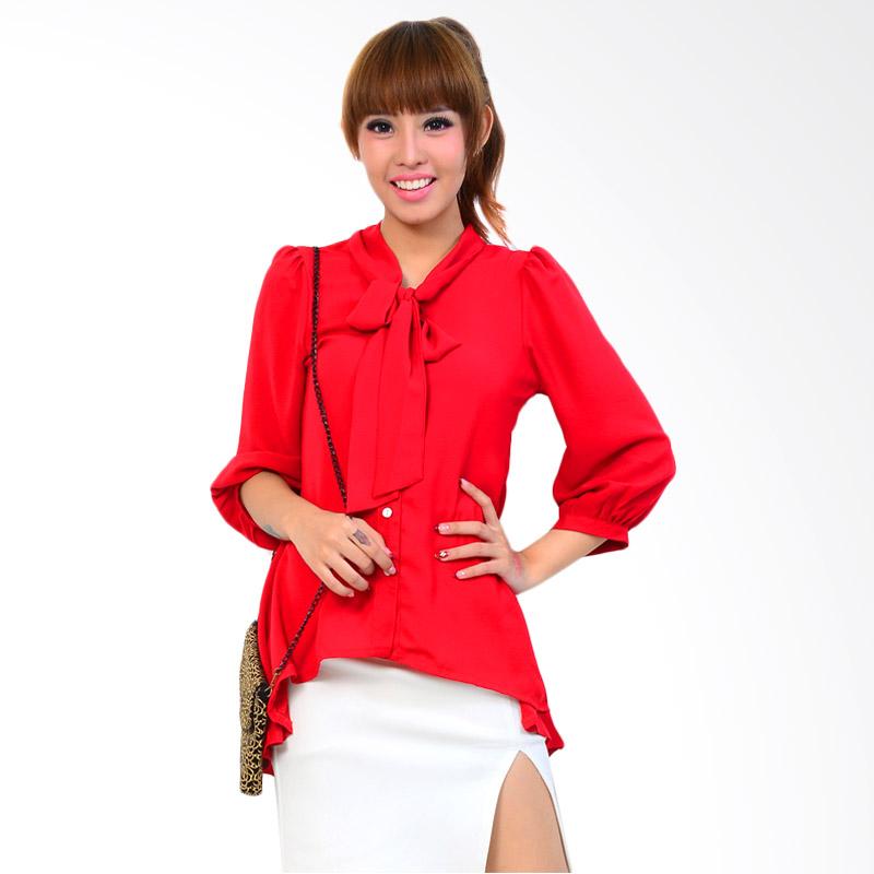 Ayako Fashion Women Long Sleeve Winona Blouse - Merah