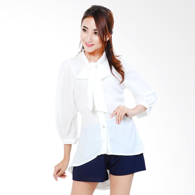 Ayako Fashion Women Long Sleeve Winona Blouse - Putih