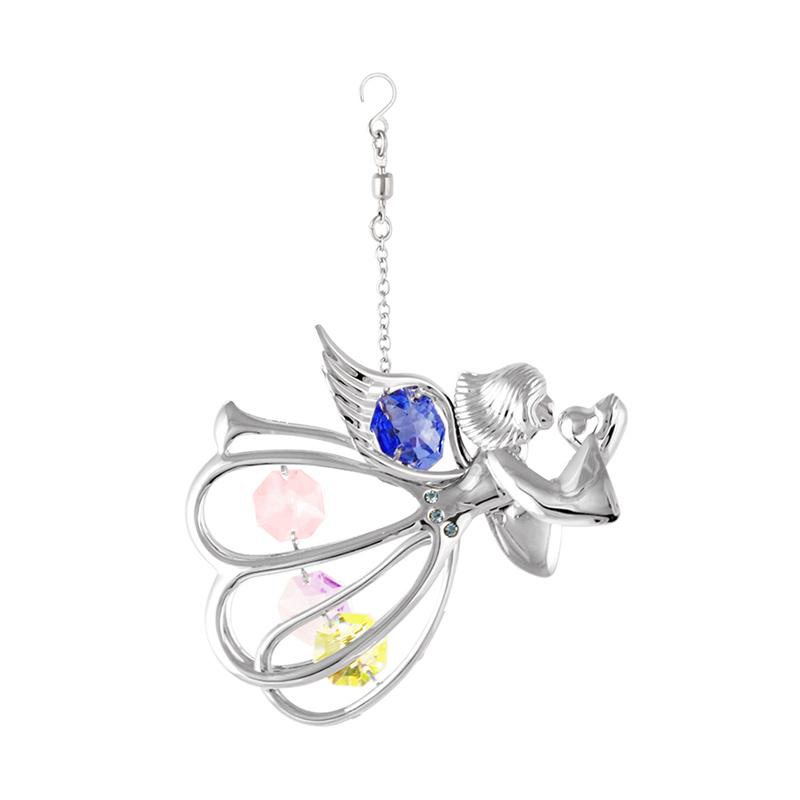 Gantungan Hiasan Dekorasi Jual Azurist Royalcraft Graceful Angel Chrome Swarovski Silver