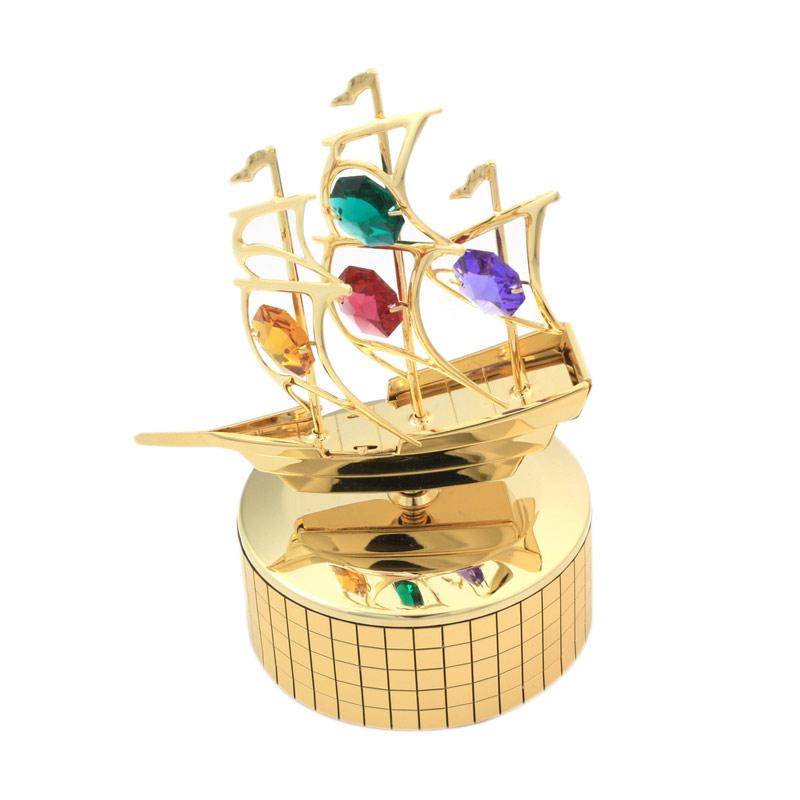 harga Azurist Royalcraft Treasure Sailboat Music Box Kotak Musik Pajangan - Gold Blibli.com