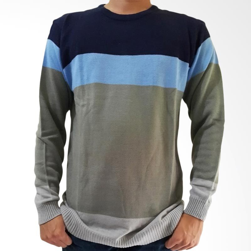 B2 Shop Ice Man Rajut Blue Sweater Pria