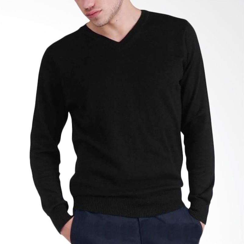 B2 Shop V Man Rajut Black Sweater