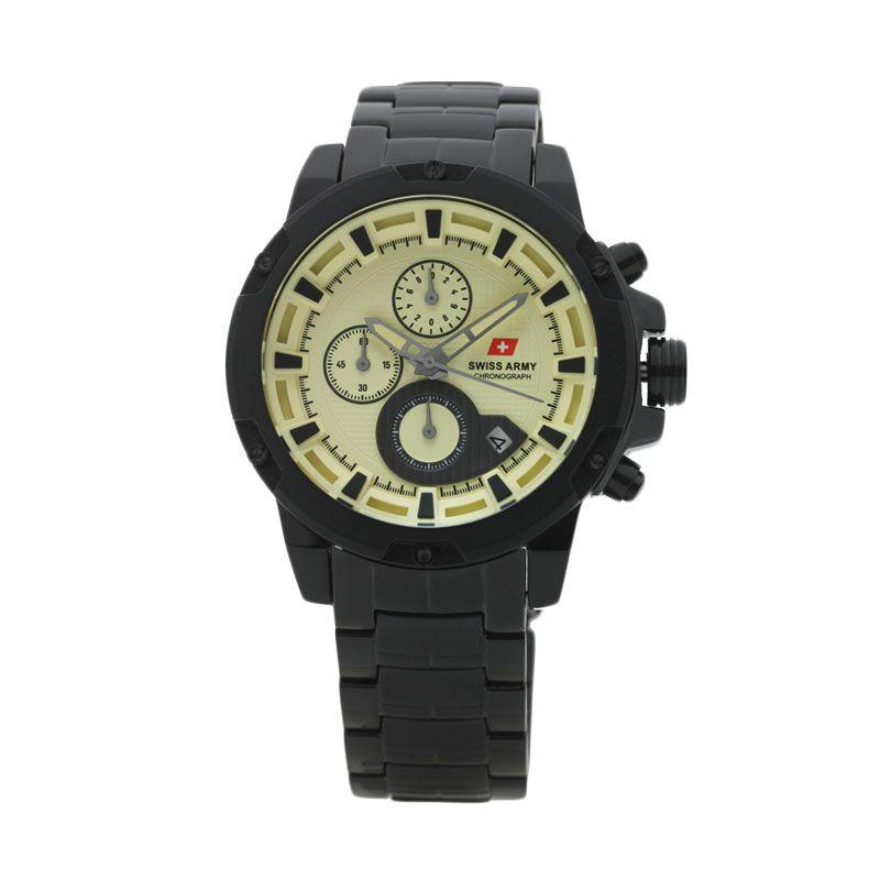 Swiss Army SA 2059 G Chronograph Hitam Krem Jam Tangan Pria