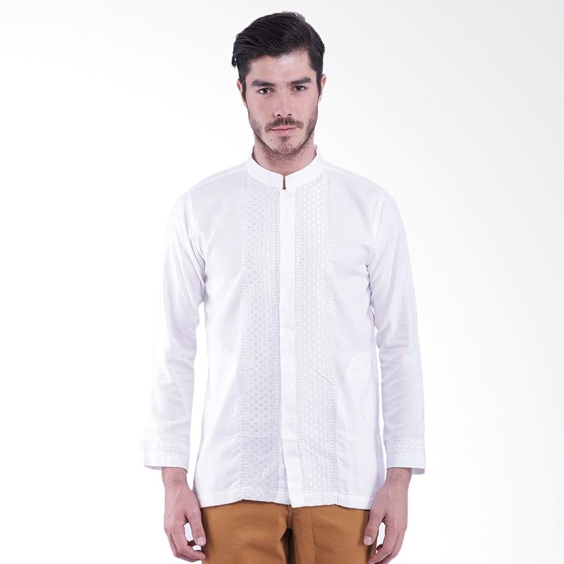 Al Luthfi Long Sleeve White Baju Muslim Pria