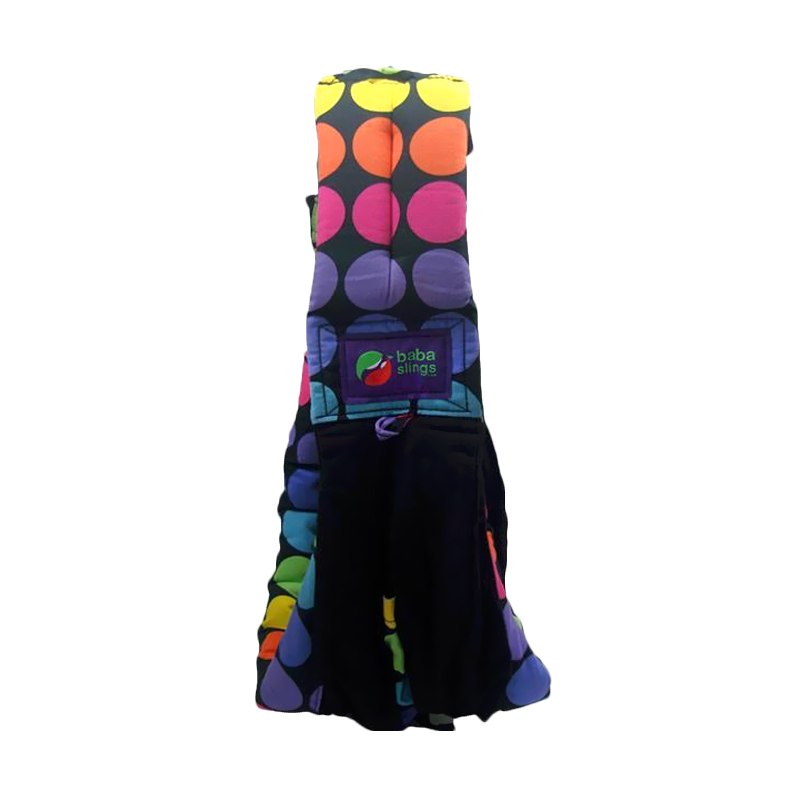 Baba Slings Rainbow Dot Gendongan Bayi - Black