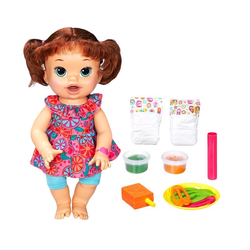 harga Baby Alive Super Snacks Snackin Sara Brunette Mainan Anak Blibli.com