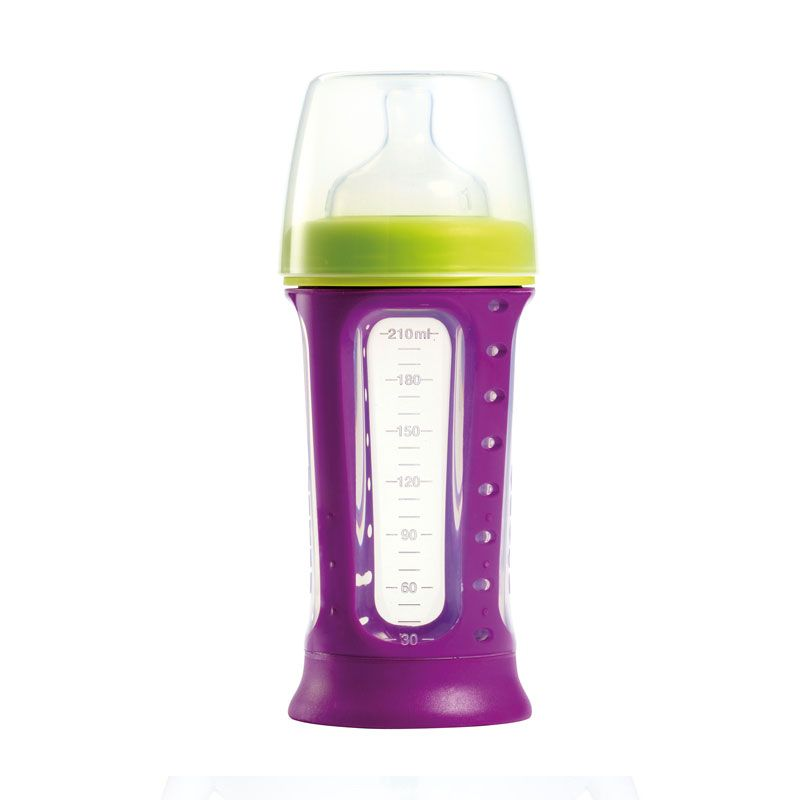 Beaba Biboz 1st Stage Silicon Feeding Bottle 210ml Gypsy